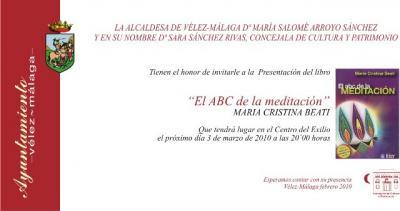 Presentación del libro el ABC de la Meditación. Málaga